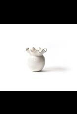 White Ruffle Vase