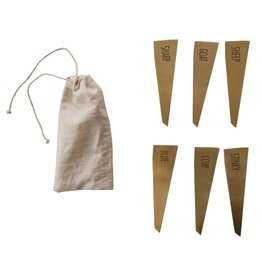 Oak + Arrow Interiors Stainless Steal Cheese Labels