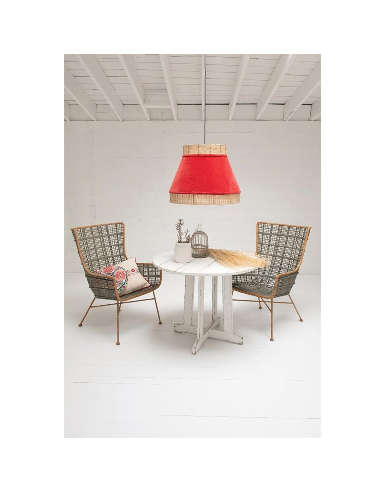 Oak + Arrow Interiors Velvet Cane Pendant