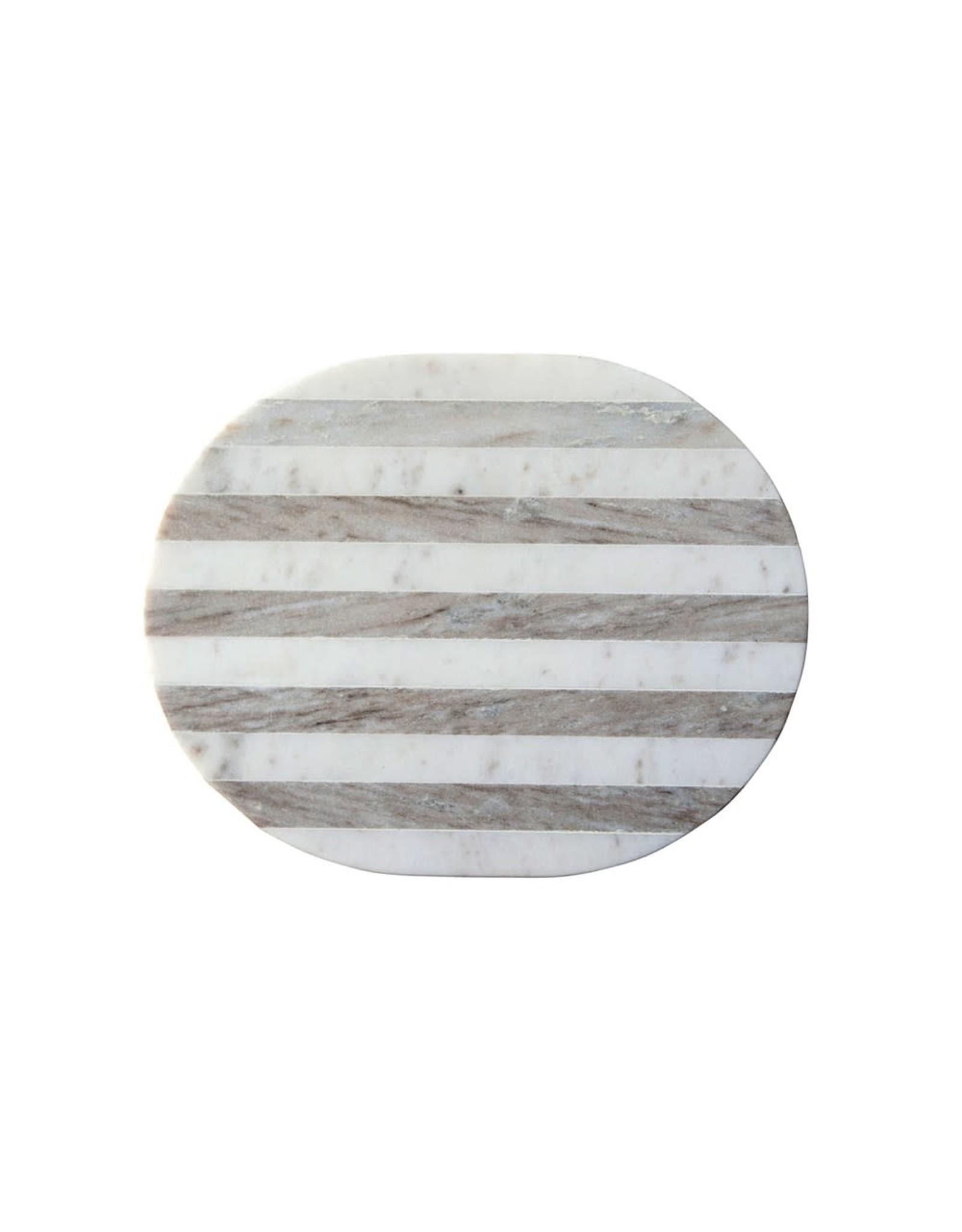 Oak + Arrow Interiors Marble Board - Grey & White Stripe