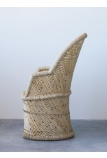 Oak + Arrow Interiors Hand-Woven Bamboo & Rope Chair