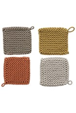 Oak + Arrow Interiors Crocheted Pot Holder - Light Grey