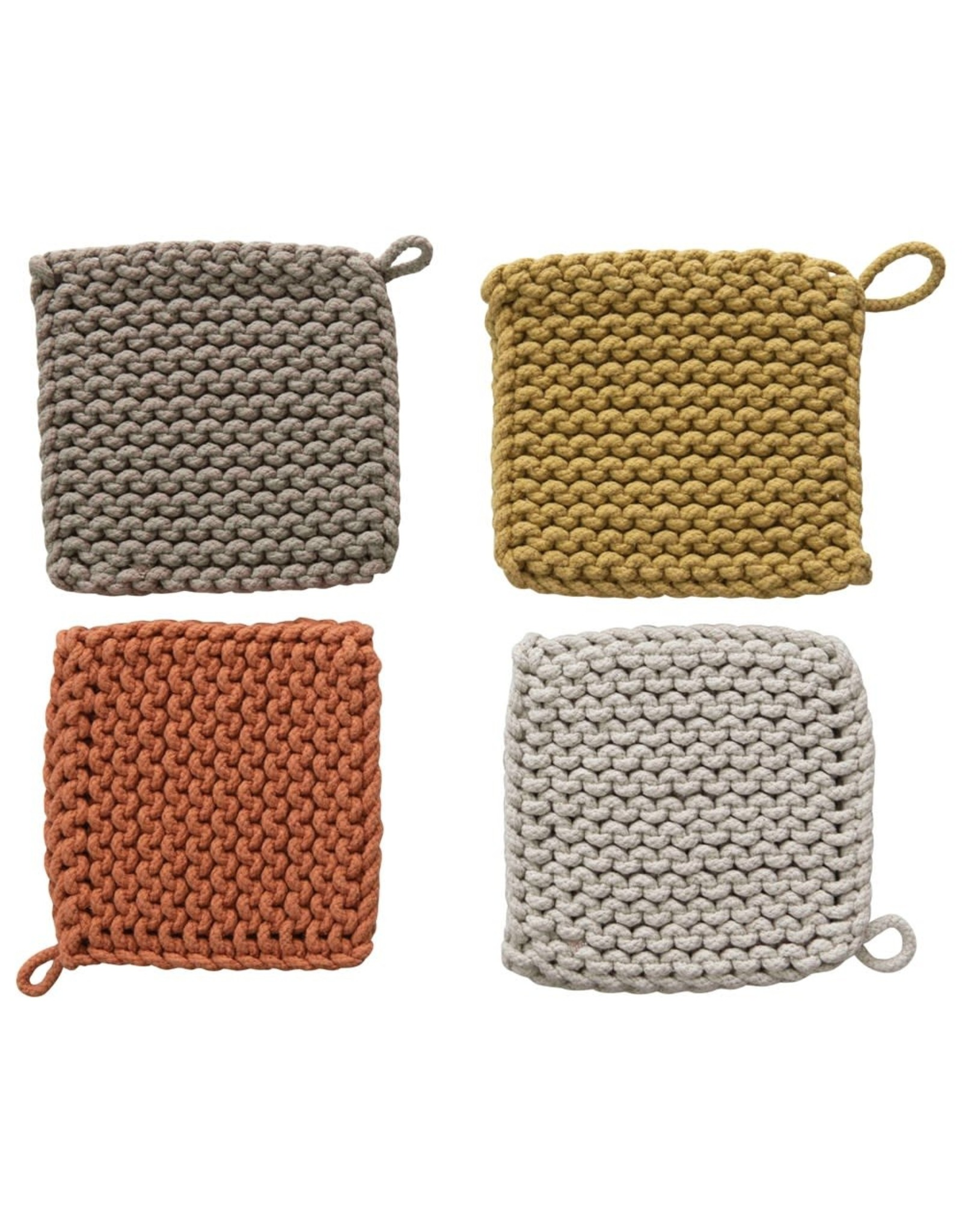 Oak + Arrow Interiors Crocheted Pot Holder - Dark Grey