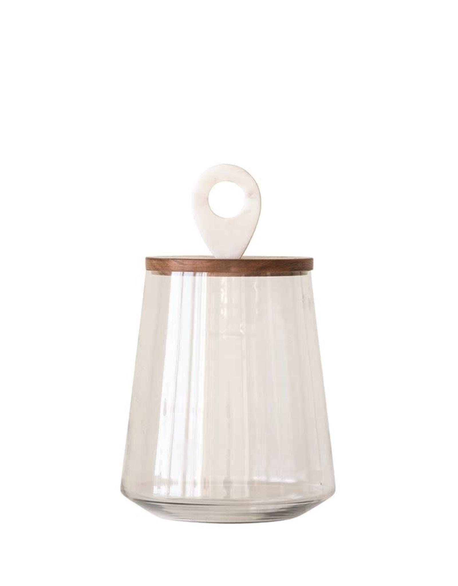 Oak + Arrow Interiors Glass Jar w Wooden Lid