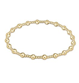 Classic Sincerity Pattern 4mm Bead Bracelet - Gold