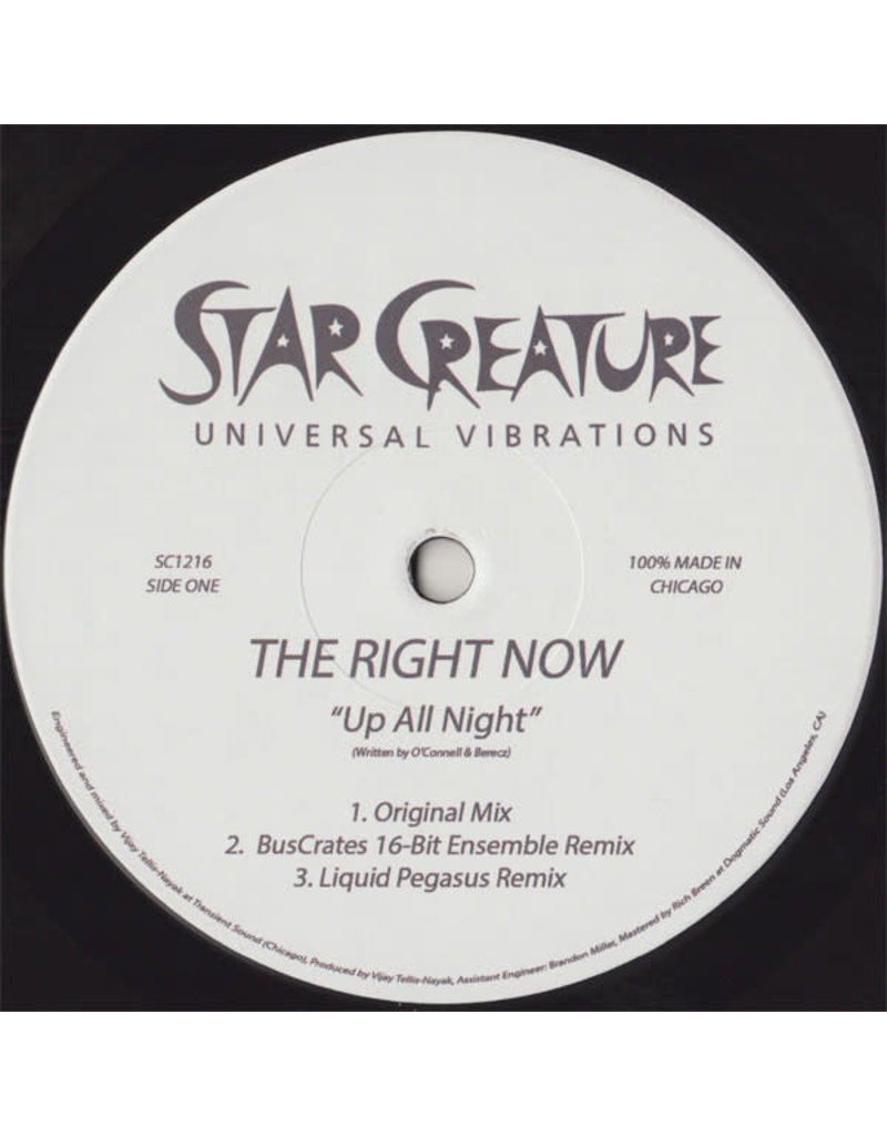 """The Right Now – Up All Night / If It Was You 12"""""""