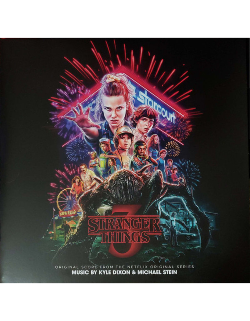 Kyle Dixon & Michael Stein – Stranger Things 3 (Original Score From The Netflix Original Series),LP, Clear Translucent w/ Multi-color Splatter [Firework Splatter]