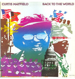 Curtis Mayfield ‎– Back To The World LP, Colour vinyl