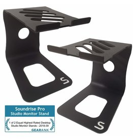 Soundrise PRO Studio Monitor Stands (Black/pair) - Aluminum Desktop Speaker Stands for Studio Reference Monitors (Black)