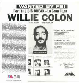LA Willie Colon ‎– Wanted By FBI / The Big Break - La Gran Fuga LP
