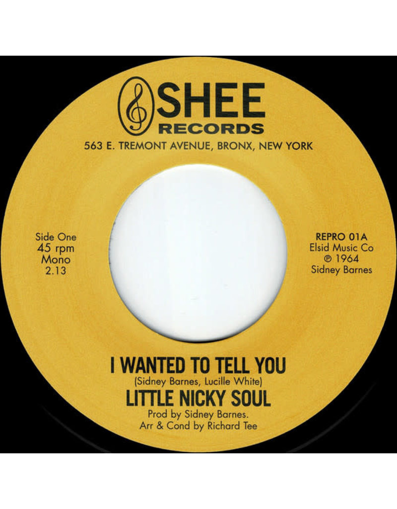 Little Nicky Soul ‎– I Wanted To Tell You / You Said 7""