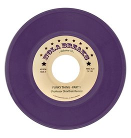 "Professor Shorthair - NOLA Breaks Vol 10 7"" (Purple marble vinyl)"