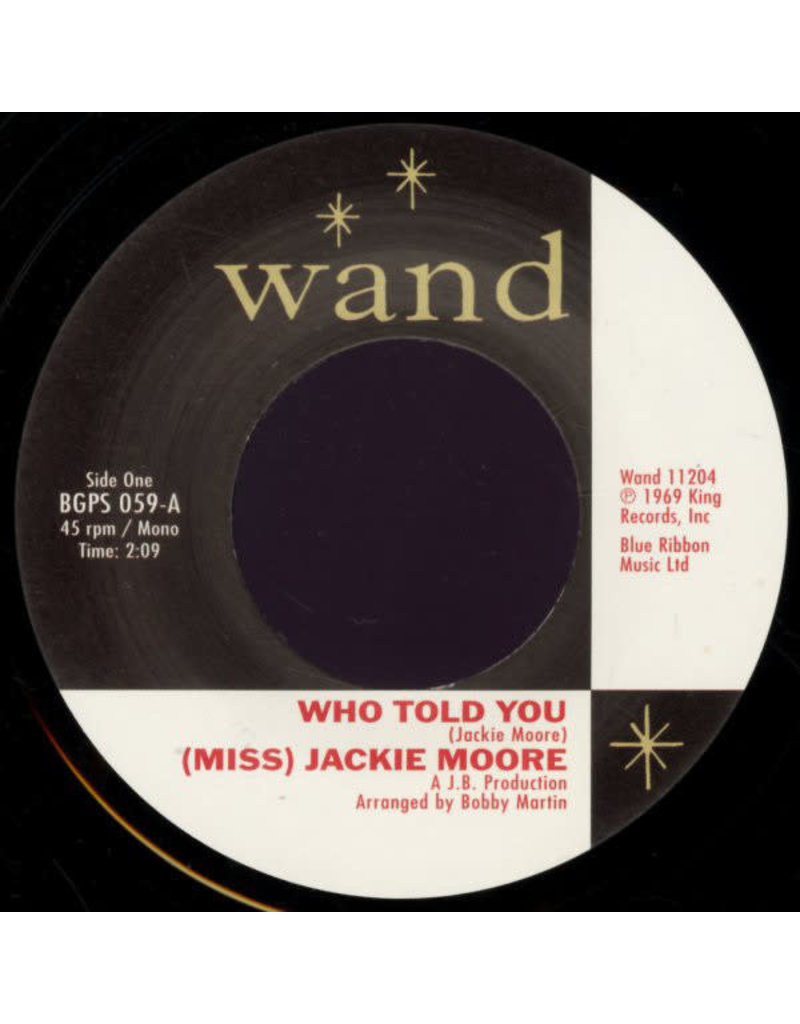 FS (Miss) Jackie Moore ‎– Who Told You / The Same Change 7""