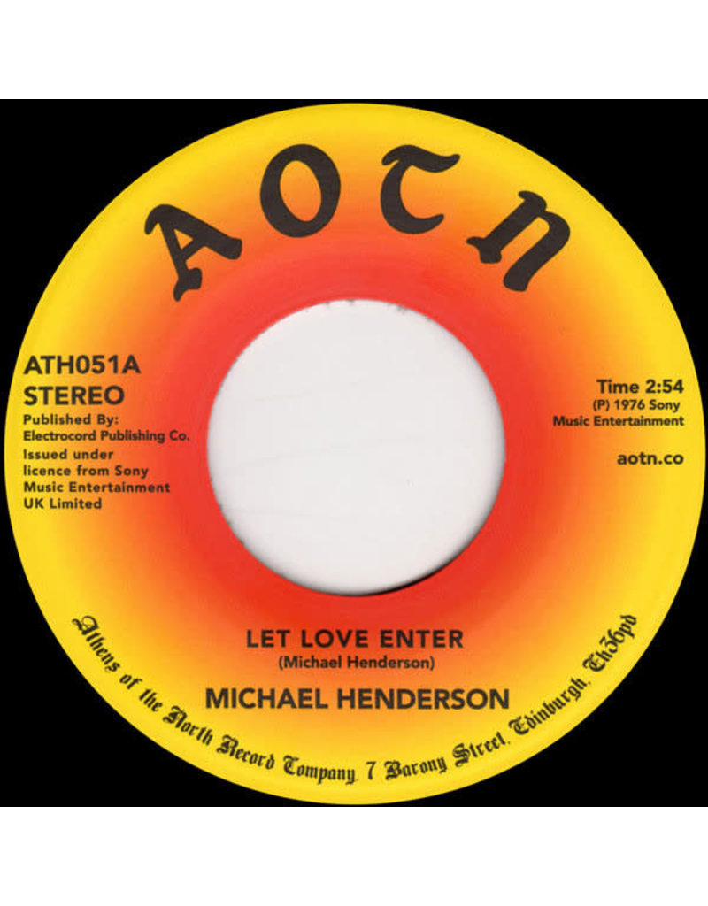 FS Michael Henderson ‎– Let Love Enter / Come To Me 7""