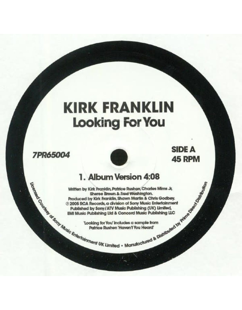 """FS Kirk Franklin – Looking For You 7"""" [RSD2019]"""