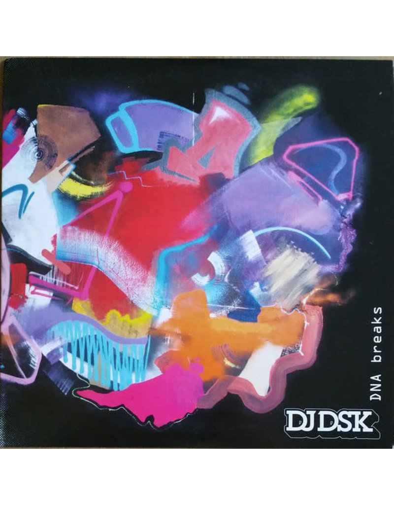 "DJ DSK - DNA Breaks 7"" (2018), Clear/Black/White Spatter"