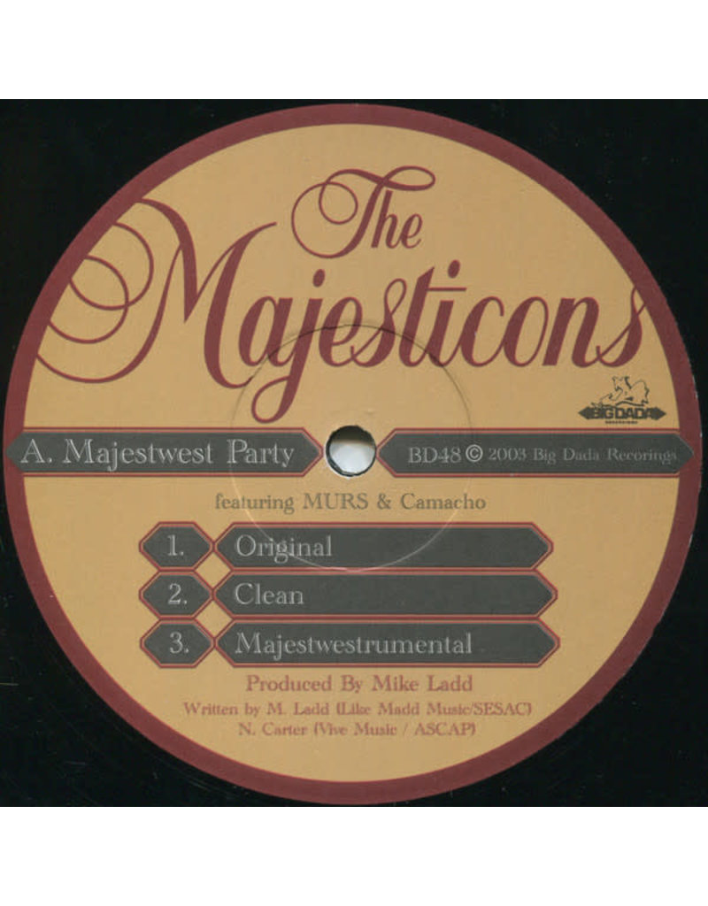 The Majesticons ‎– Majestwest Party / Suburb Party 12""