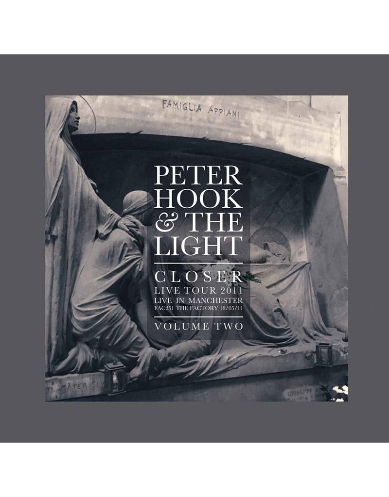 RK Peter Hook & The Light - Closer Live Tour 2011 Live In Manchester Volume One LP (2017), Limited 2000, White