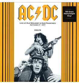 AC/DC ‎– Live At Old Waldorf In San Francisco September 3, 1977. KSGA-FM LP