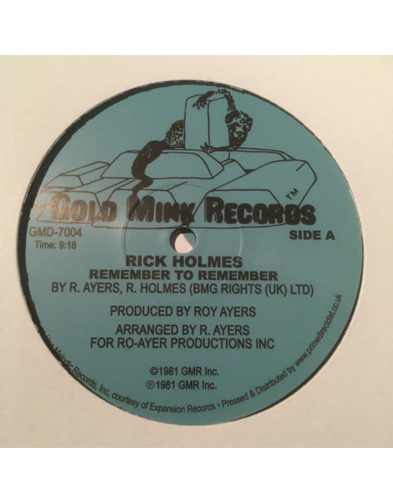 """Rick Holmes – Remember To Remember 12"""""""