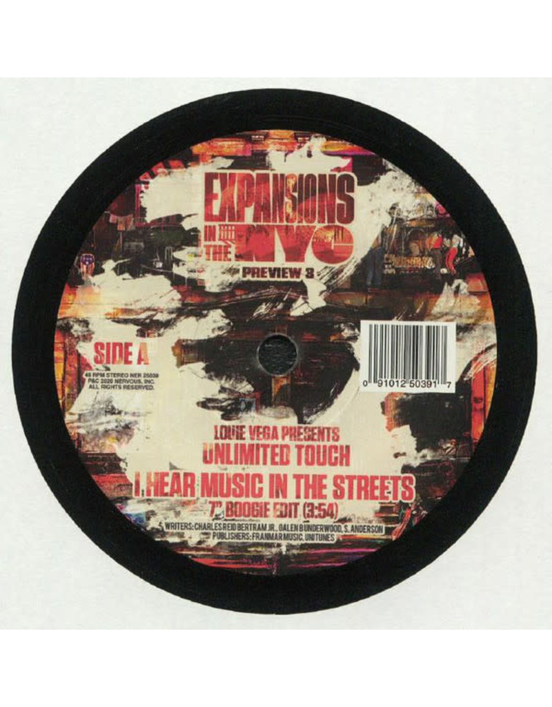 """Louie Vega Presents Unlimited Touch – I Hear Music In The Streets (Expansions In The NYC Preview 3) 7"""""""