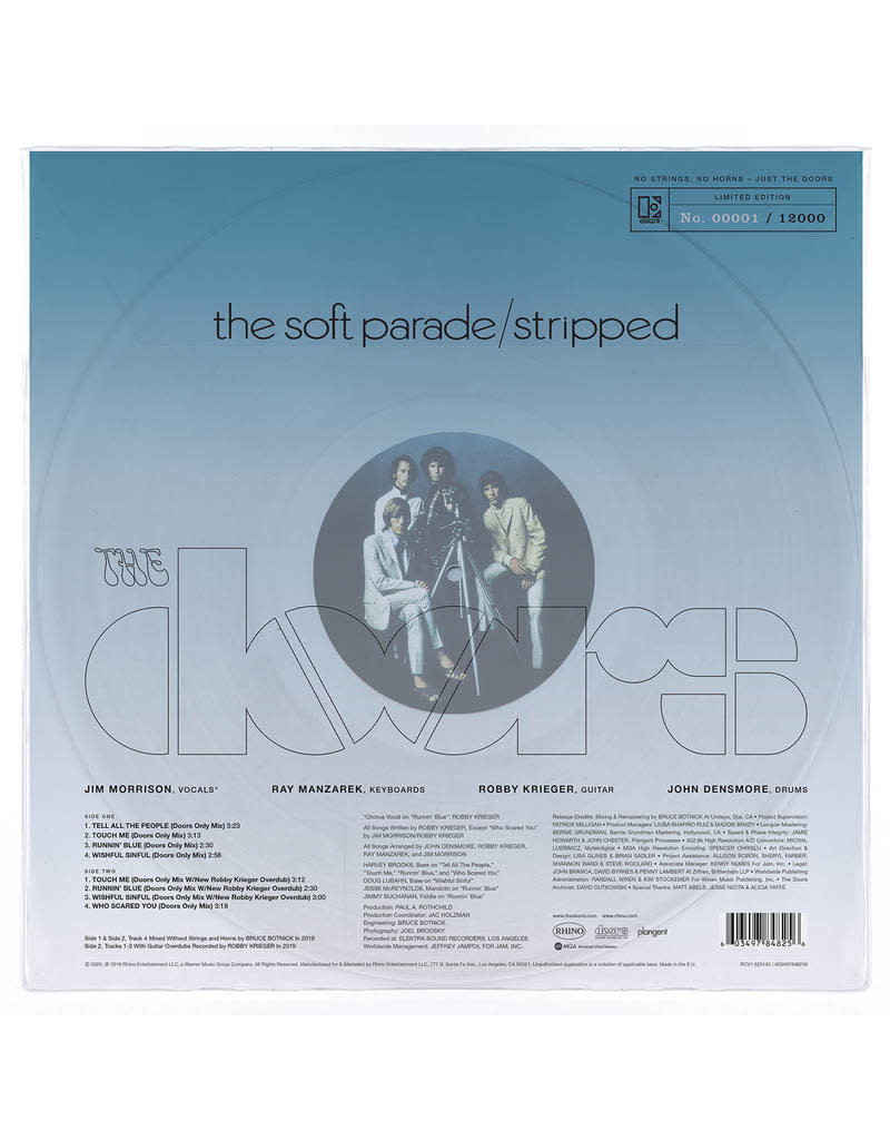 The Doors - The Soft Parade: Stripped LP [RSD2020], Limited 12000, Numbered, Clear