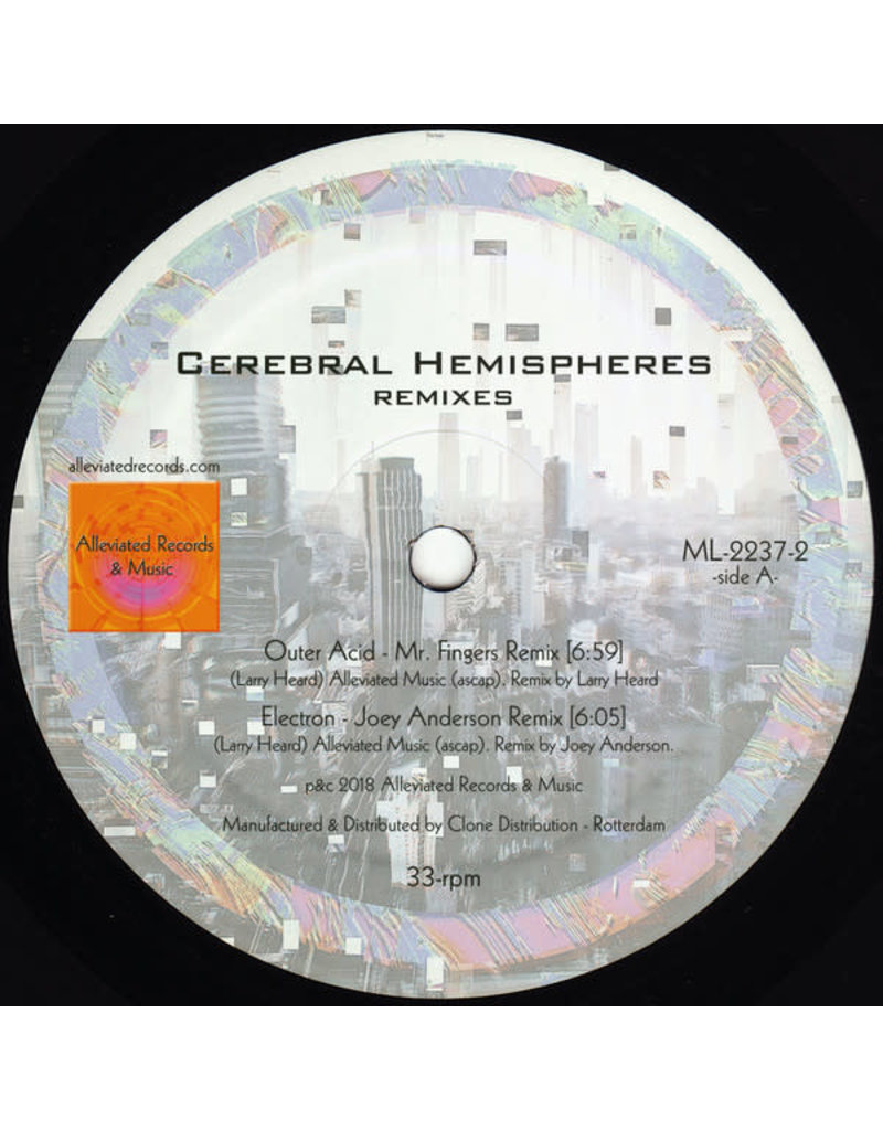 "Mr. Fingers - Cerebral Hemispheres Remixes 12"" (2018)"