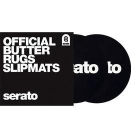 """Serato Butter Rug 7"""" Slipmat - White Logo / Black Mat"""