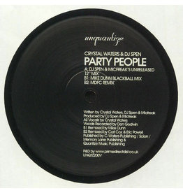 "Crystal Waters & DJ Spen – Party People 12"""