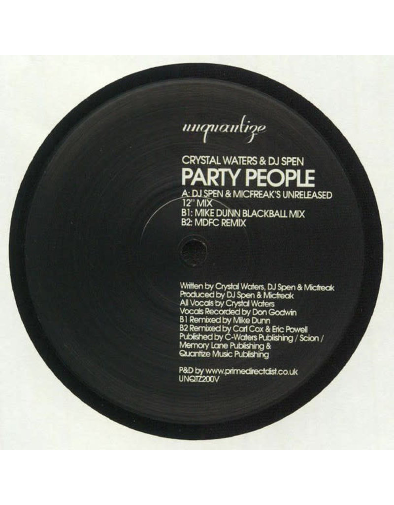 "Crystal Waters & DJ Spen - Party People 12"" (2020)"