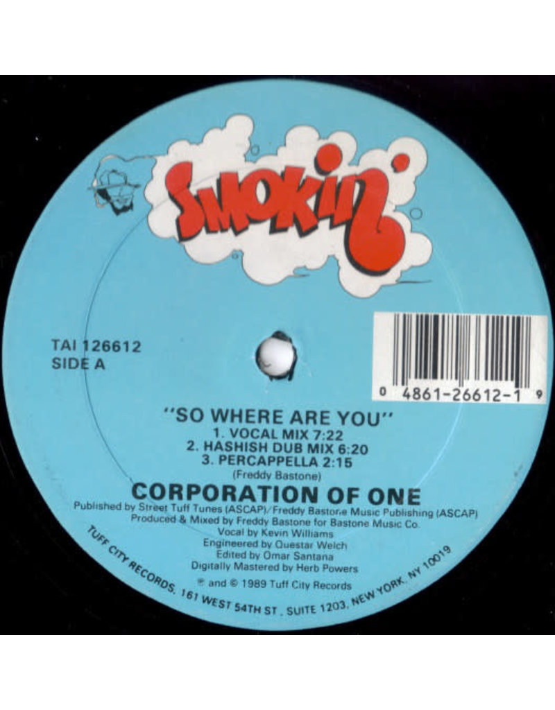 """Corporation Of One – So Where Are You 12"""" [RSD2020]"""
