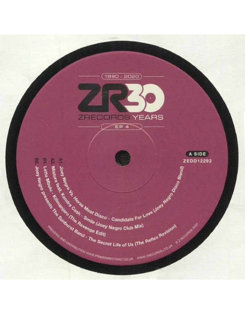 """Various - 30 Years Of Z Records EP 4 12"""" (2020)"""
