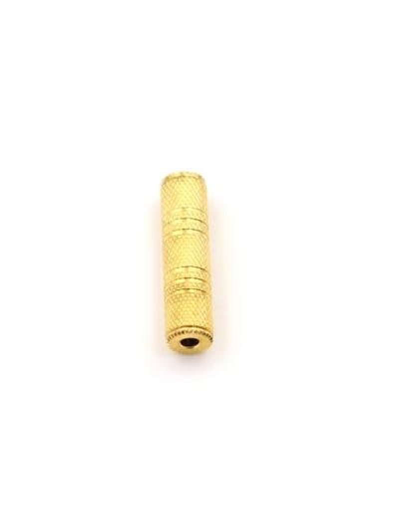 N/A ETC - 3.5MM STEREO F/F COUPLER ADAPTOR GOLD