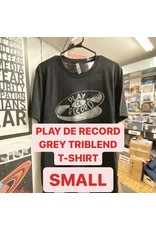 Play De Record GREY TREIBLEND Logo T-Shirt (SMALL)