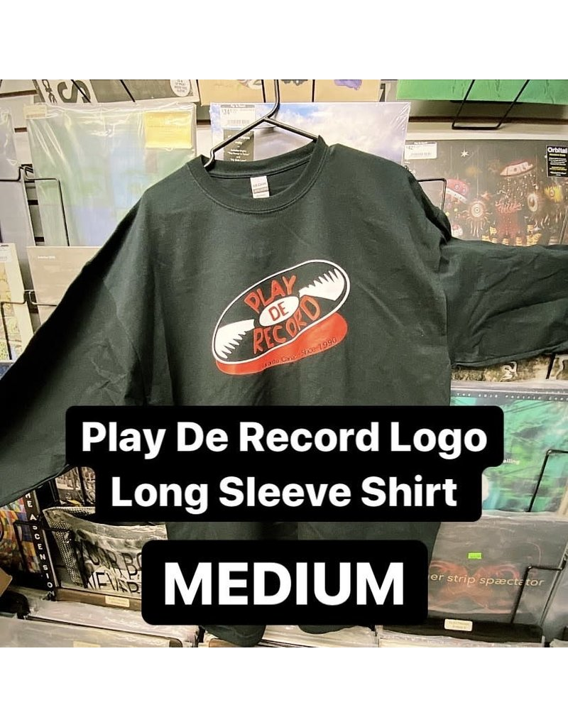 Play De Record Logo Long Sleeve Shirt (MEDIUM)