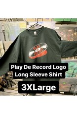 Play De Record Logo Long Sleeve Shirt (3XLarge)