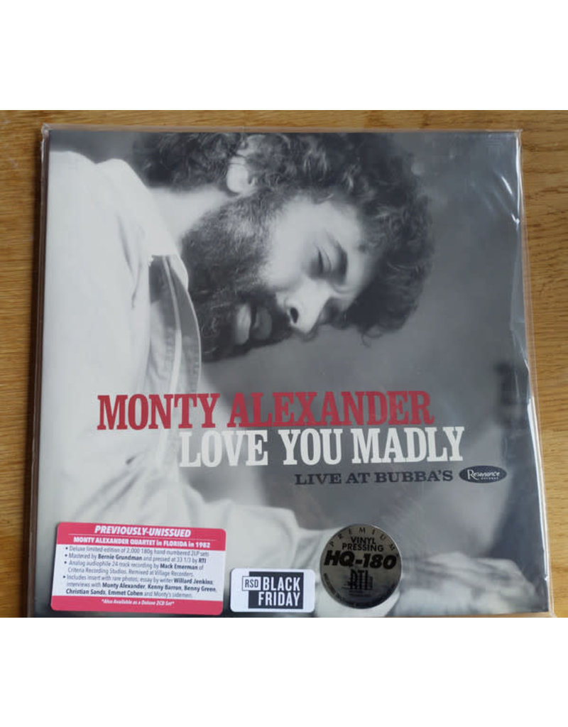 Monty Alexander ‎– Love You Madly, Live at Bubba's 2LP, LIMITED [RSDBF2020]