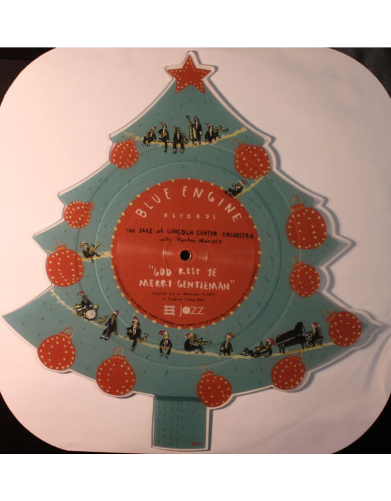 """XM The Jazz At Lincoln Center Orchestra* With Wynton Marsalis – God Rest Ye Merry Gentleman / Little Drummer Boy (TREE SHAPED VINYL) 12"""" [RSD2016]"""