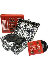 "HH J DILLA - THE DILLA TURNTABLE + 7"" [Portable w/case /3 Speed/Speaker/ 45 Adaptor/ Extra stylus /USB, RCA, Headphone Jack]"
