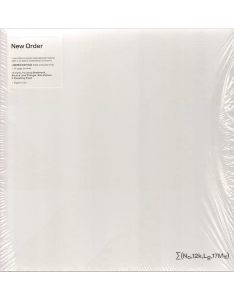 New Order + Liam Gillick – ∑(No,12k,Lg,17Mif) New Order + Liam Gillick: So It Goes.., Limited Edition