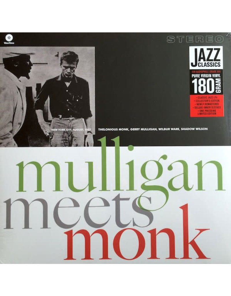 Thelonious Monk And Gerry Mulligan – Mulligan Meets Monk , 2011 Reissue, Limited Edition, 180 Gram