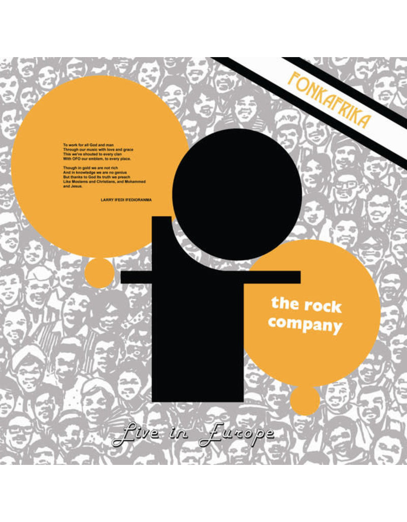 AF Ofo The Rock Company ‎– Live In Europe - Fonk Afrika LP, 2017 Reissue