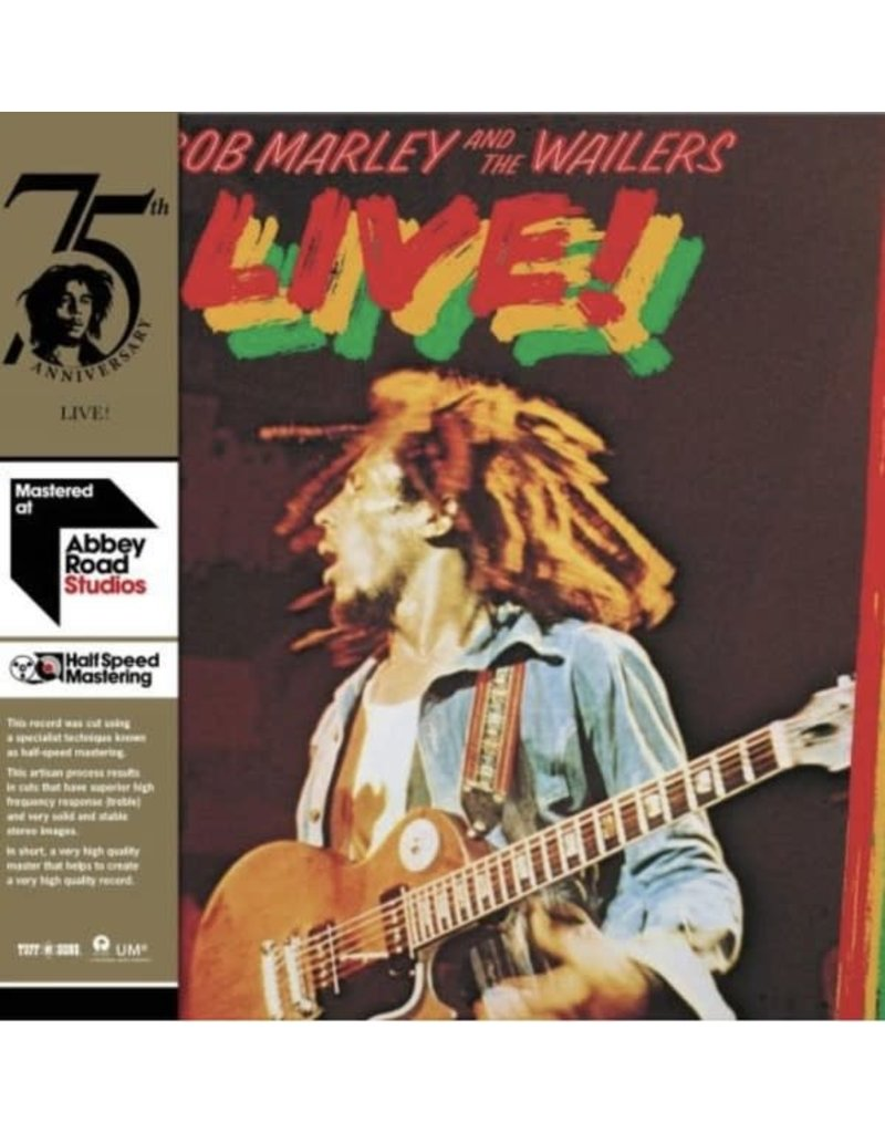 Bob Marley & The Wailers ‎– Live! LP, 2020 Reissue, 180g