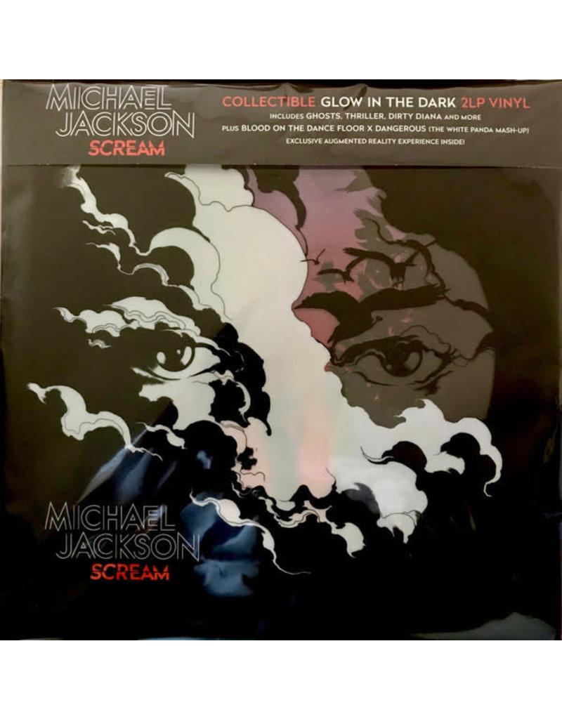 FS Michael Jackson – Scream 2LP (2017)(Glow In The Dark/Blue Translucent w/ Luminous Splatter)