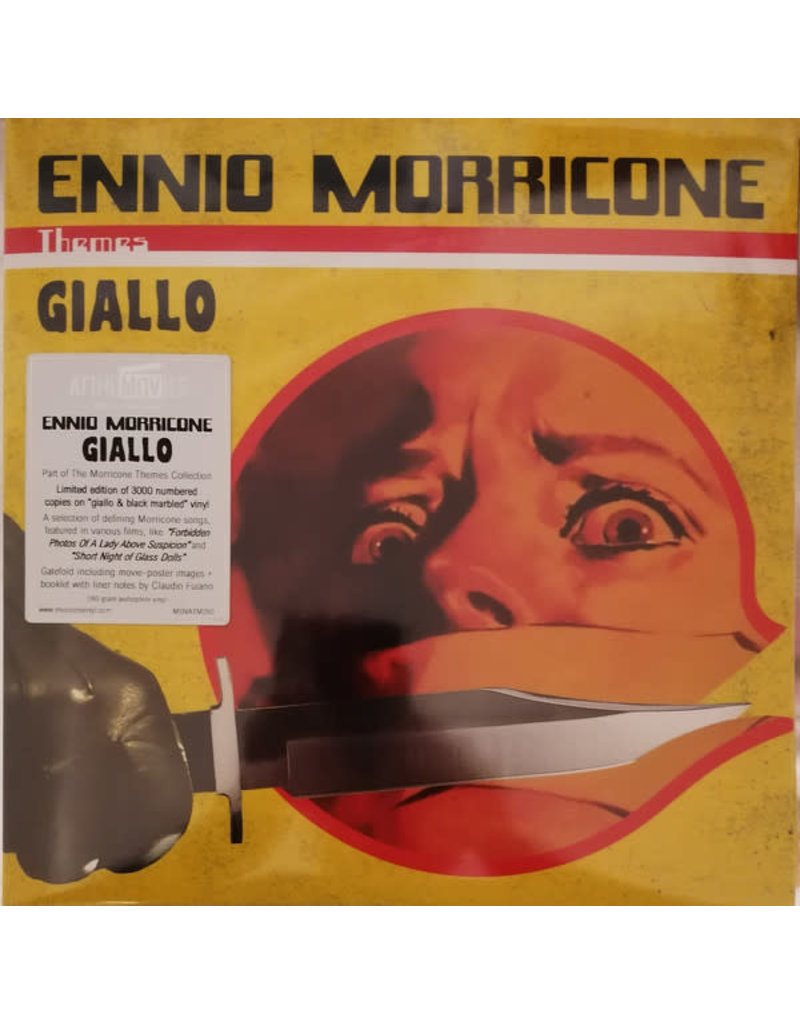 Ennio Morricone ‎– Giallo 2LP (2020), Compilation, Numbered, Yellow [Giallo] And Black Marbled (Music On Vinyl)
