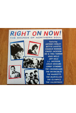 Various – Right On Now! The Sounds Of Northern Soul LP (2018 Compilation), White w/ Red/Blue Swirl