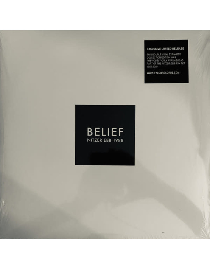 Nitzer Ebb ‎– Belief 2LP [RSD2019] Reissue, Limited Edition, Clear Vinyl (Black Labelling Sticker)