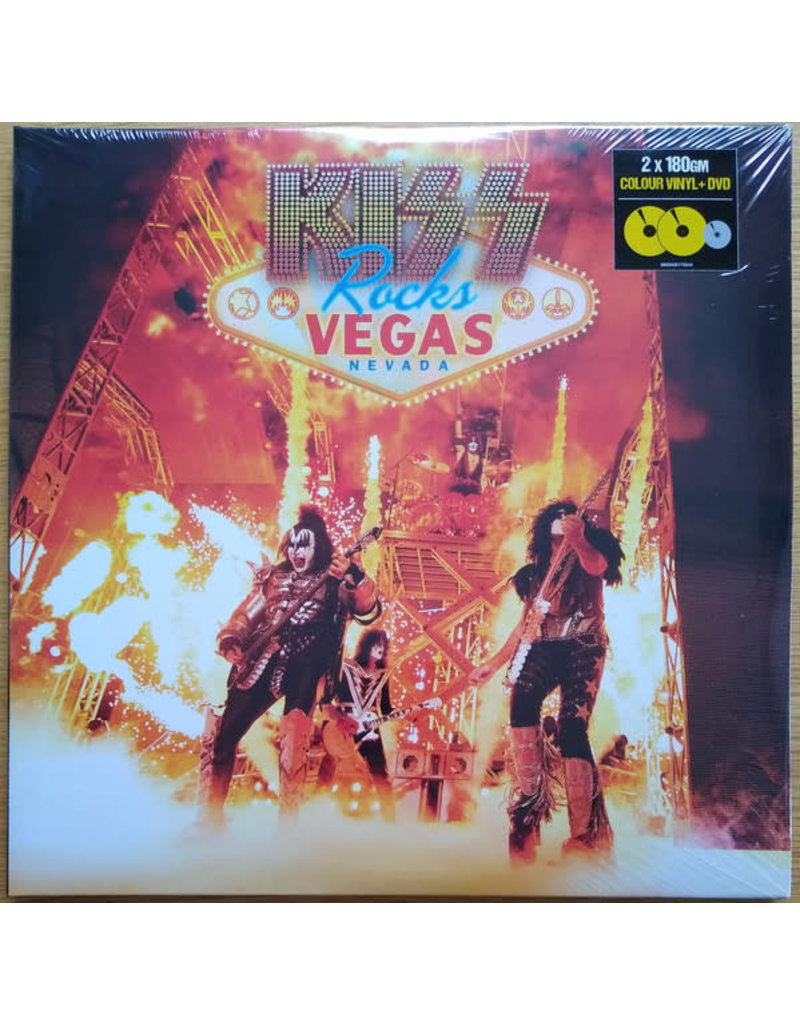 Kiss ‎– Kiss Rocks Vegas 2LP+DVD (2020 Reissue), Limited, Yellow Vinyl