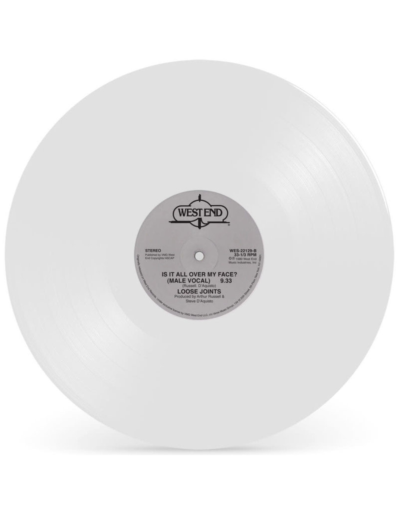 """Loose Joints – Is It All Over My Face (White Vinyl) 12"""""""