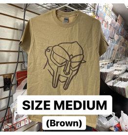 MF Doom T-Shirt (Brown) (MEDIUM)